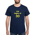 Life Begins at 30 Birthday T-Shirts