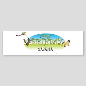 Happy B-Day Savana (farm) Bumper Sticker