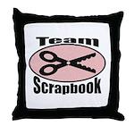 Team Srapbook Throw Pillow