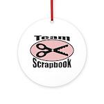 Team Srapbook Ornament (Round)