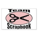 Team Srapbook Rectangle Sticker