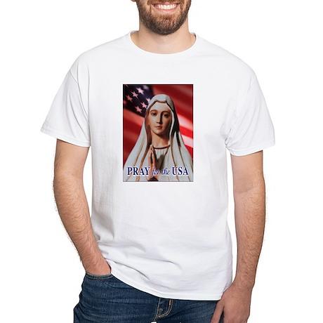 Pray for the USA White T-Shirt