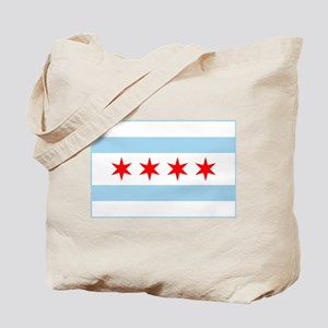City of Chicago Flag Tote Bag