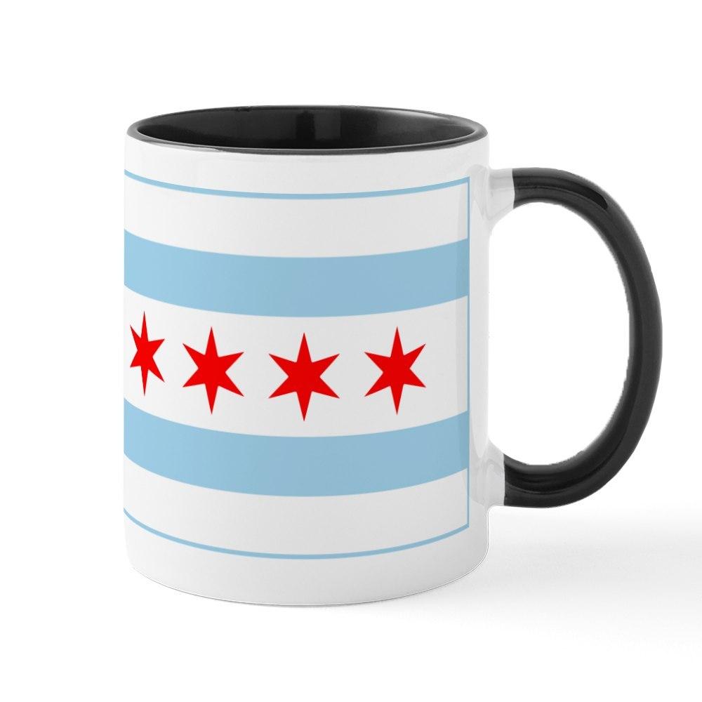 ef3ba0909 CafePress City Of Chicago Flag 11 oz Ceramic Mug (150051499)   eBay