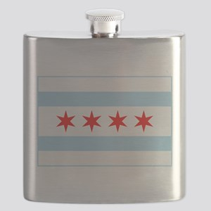 City of Chicago Flag Flask