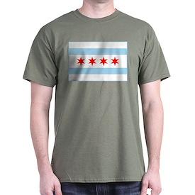 City of Chicago Flag T-Shirt