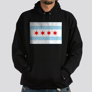 City of Chicago Flag Hoodie (dark)
