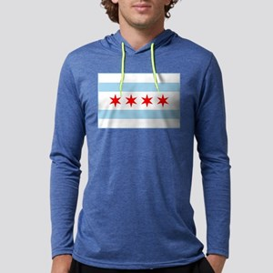 City of Chicago Flag Mens Hooded Shirt