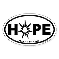 Hope ~ Heaven On Earth Oval Decal