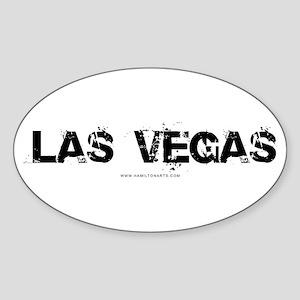 Las Vegas NV Oval Sticker