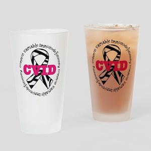 CVID Zebra Ribbon Drinking Glass