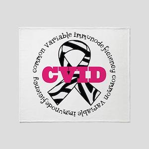CVID Zebra Ribbon Throw Blanket