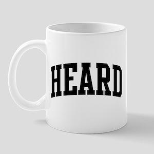 HEARD (curve-black) Mug