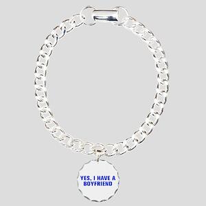 Yes I have a boyfriend-Akz blue Bracelet