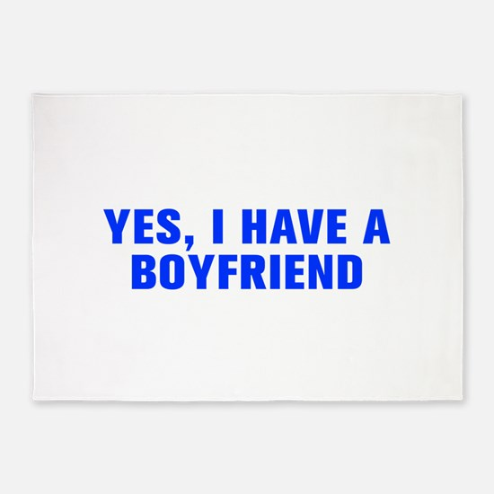 Yes I have a boyfriend-Akz blue 5'x7'Area Rug