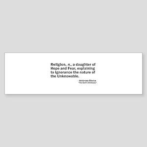 Religion Sticker (Bumper)
