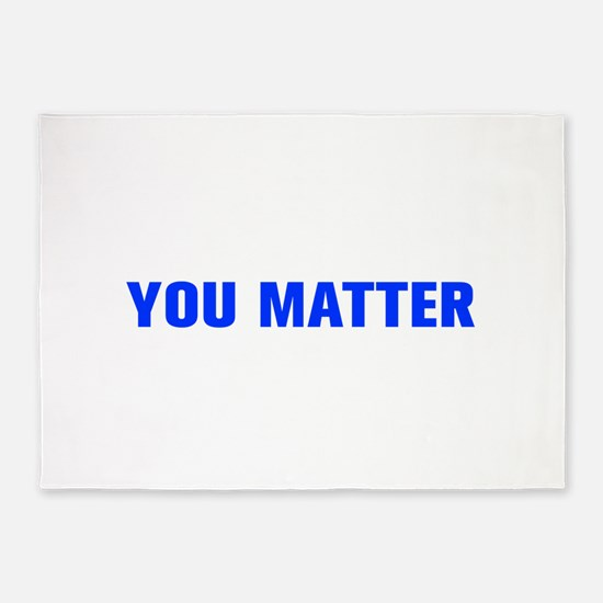 You Matter-Akz blue 5'x7'Area Rug