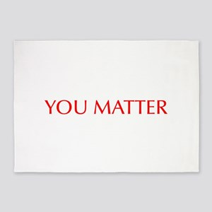 You Matter-Opt red 5'x7'Area Rug