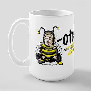 Anti-Hillary Bee-otch Large Mug