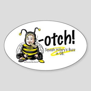 Anti-Hillary Bee-otch Oval Sticker