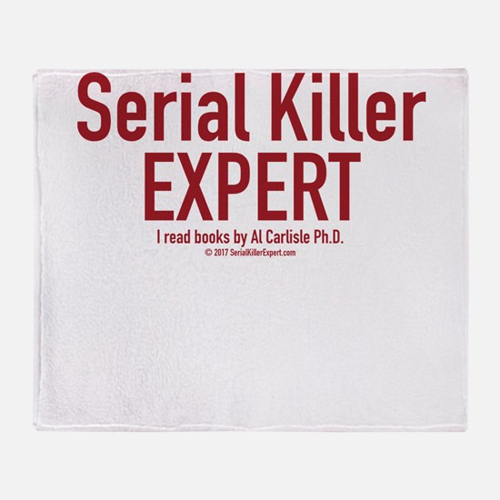 Serial Killer Expert Throw Blanket