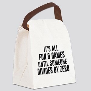 Divide By Zero Canvas Lunch Bag