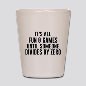 Divide By Zero Shot Glass