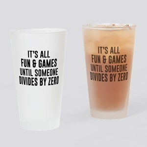Divide By Zero Drinking Glass