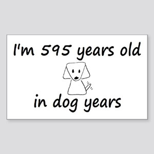 85 dog years 6 - 3 Sticker