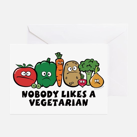 Nobody Likes a Vegetarian Greeting Cards (Package