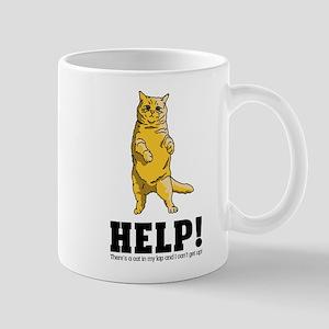 There's a Cat in My Lap 11 oz Ceramic Mug