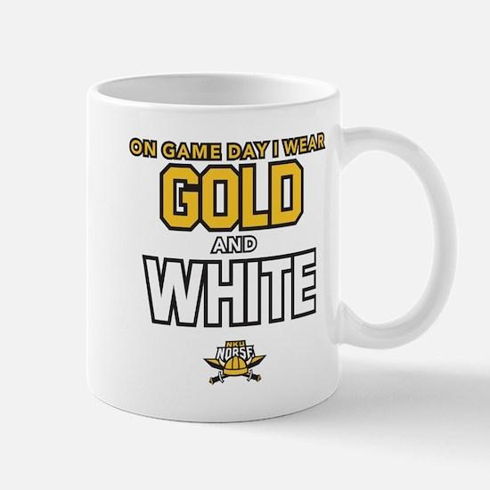 Northern Kentucky NKU Norse Gold and White Mugs