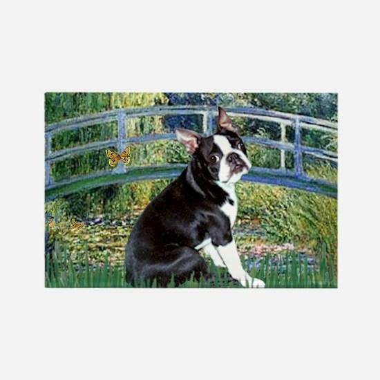 Bridge & Boston Terrier Rectangle Magnet