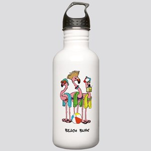 Flamingo Beach Bums Water Bottle