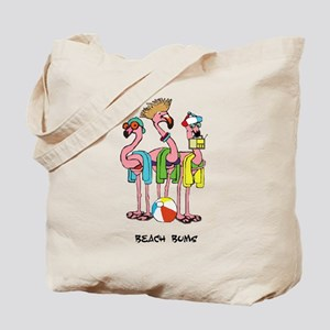 Flamingo Beach Bums Tote Bag