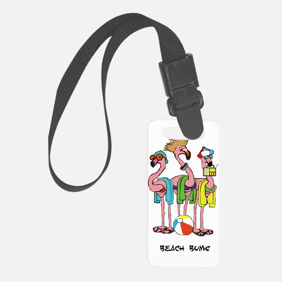 Flamingo Beach Bums Luggage Tag