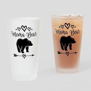 Mema Bear Grandma Gift Drinking Glass