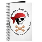 Pirate Dog Skull & Crossbiscuits Journal