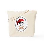 Pirate Dog Skull & Crossbiscuits Tote Bag