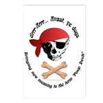Pirate Dog Skull & Crossbiscuits Postcards (Packag