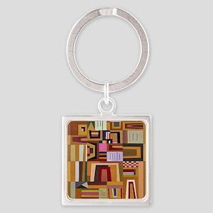 Kandinsky - Compensation Rose Square Keychain