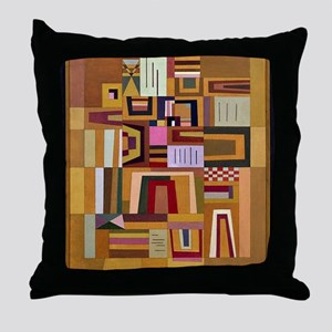 Kandinsky - Compensation Rose Throw Pillow