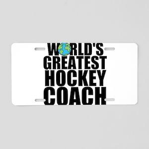 World's Greatest Hockey Coach Aluminum License