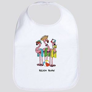 Flamingo Beach Bums Bib