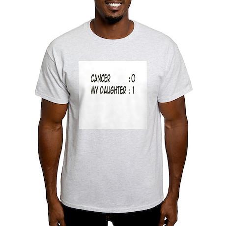'Cancer:0 My Daughter:1' Light T-Shirt