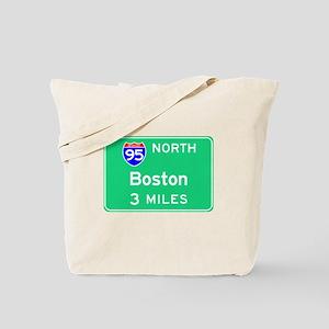 Boston MA, Interstate 95 North Tote Bag