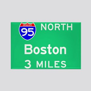 Boston MA, Interstate 95 North Rectangle Magnet