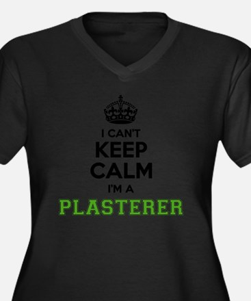 Cute Plasterers Women's Plus Size V-Neck Dark T-Shirt