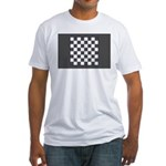 Chess Board Fitted T-Shirt