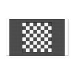 Chess Board Rectangle Car Magnet
